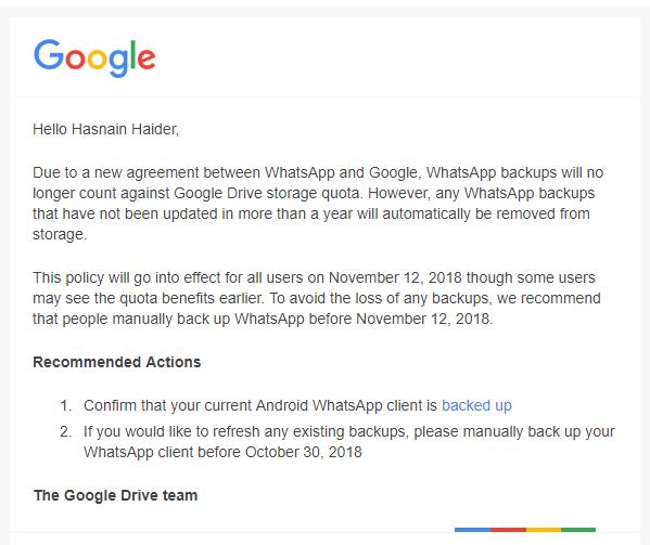 WhatsApp Google Drive Strife
